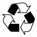 Recyclable paper symbol from The Paper Mill Store